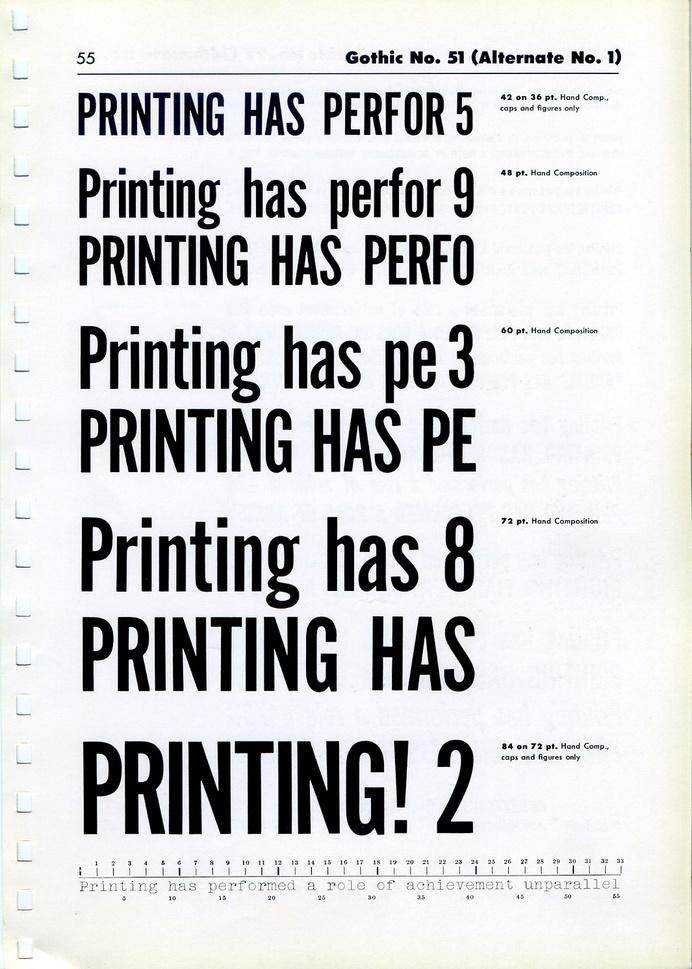 Gothic № 51 type specimen #type #specimen