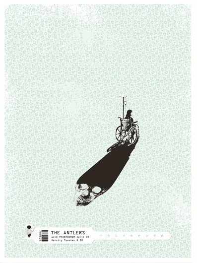 Brian Danaher ::: Design / The Antlers Gig Poster #antlers #gig #print #the #screen #poster