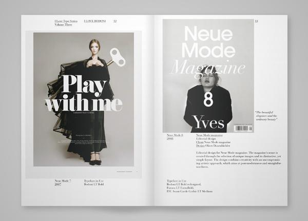 I Love Bodoni on Behance #typography