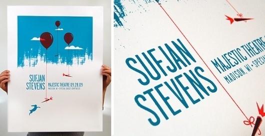 Swink | Print | Sufjan Stevens Poster #music #illustration #screenprint #poster