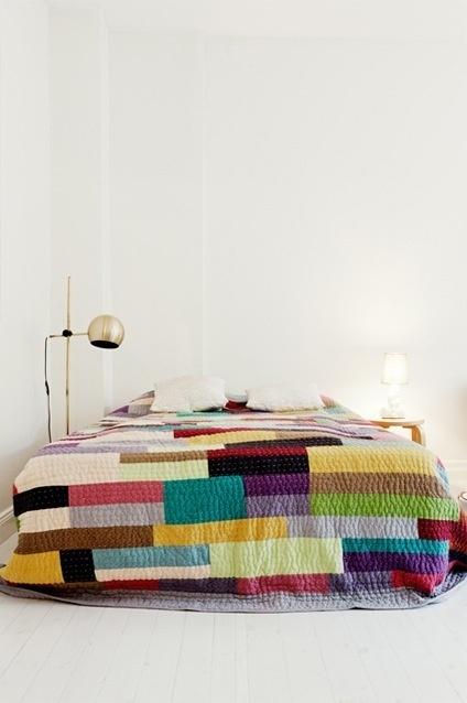 Color Blocking #bedding #grid #color #blocking
