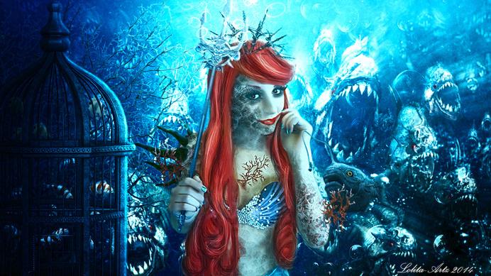 Twisted tales-Little Mermaid by Lolita-Artz #inspiration #photo #digital #manipulation #art