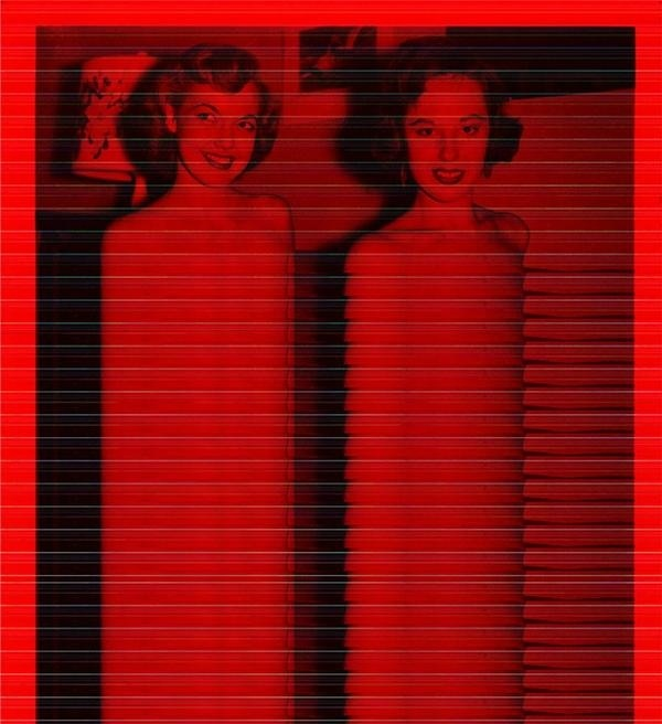 TWO GIRLS #shoulders #distortion #vintage