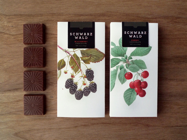 Schwarzwald #chocolate #botanical #berries #package