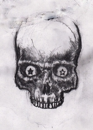 Sketch file Part I on the Behance Network #draw #skull #drawing