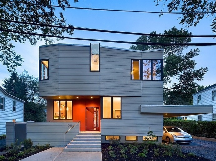 Warmth and Elegance Displayed by Sustainable Prefab House in Princeton [Video] #prefab #architecture