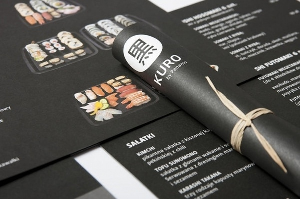 Art of the Menu: Kuro #layout #menu