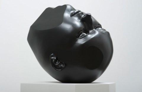 Tanya Batura   PICDIT #sculpture #white #head #black #art