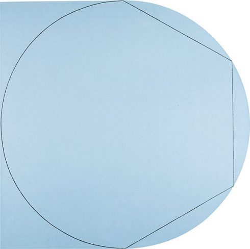Collection Online | Robert Mangold. Circle In and Out of a Polygon 2. 1973 Guggenheim Museum #circle #polygon