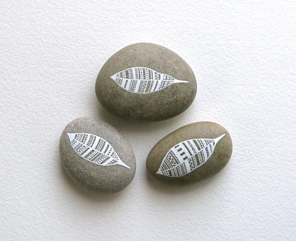 Feather stones - Natasha Newton #stone #design #feather #stones #illustration #drawing