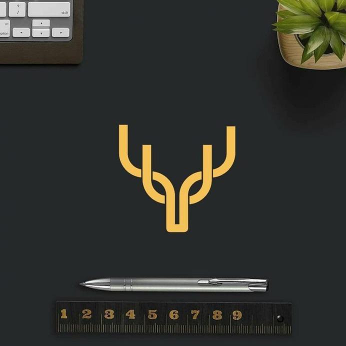 """Y u"" monogram logo."