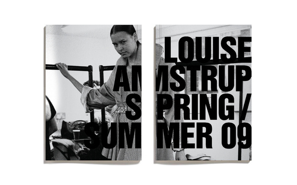 LOUISE AMSTRUP - SPRING/SUMMER 09 | LOOKBOOK #branding #design #graphic #layout #editorial #typography
