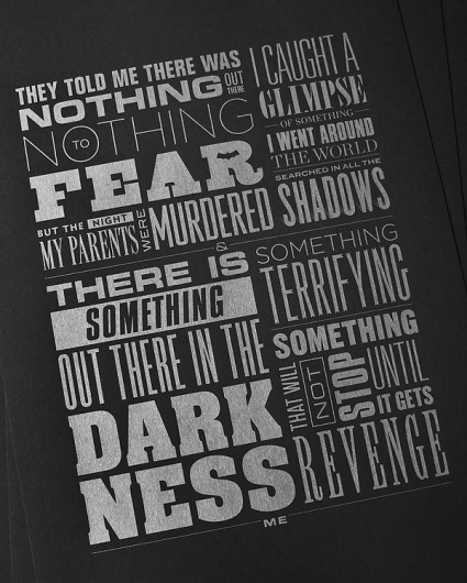 Something Terrifying on the Behance Network #typography