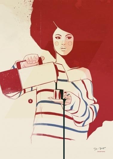 """En kopp kaffe"" as a print   Designchapel™ #coffee #print #girl #illustration"
