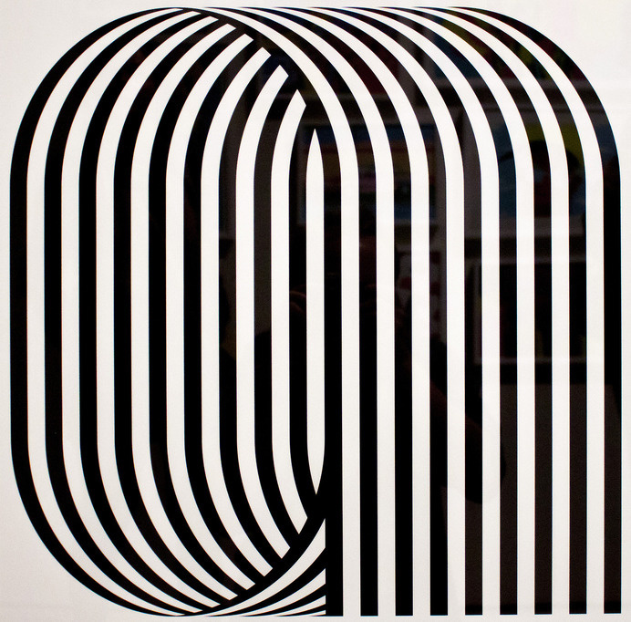 I love the almost op art style of these letters. ... | Type Worship #op #letters #stripes #art #type
