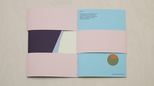 MadeThought × GF Smith — SI Special | September Industry #playful #play #booklet #folding #paper