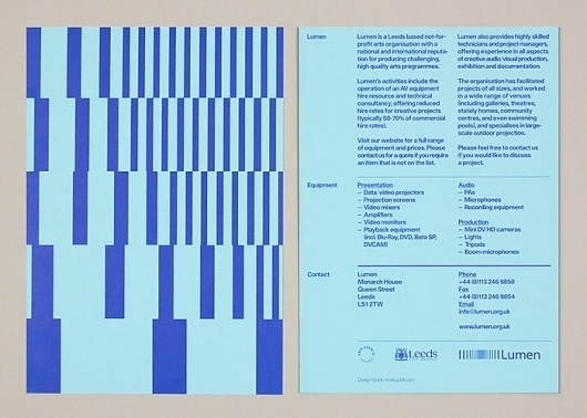 Qubik Design +44 (0)113 226 0839 #design #leaflet #typography
