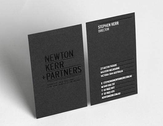 Newton Kerr + Partners Brand Strategy & Identity on Branding Served #card #business