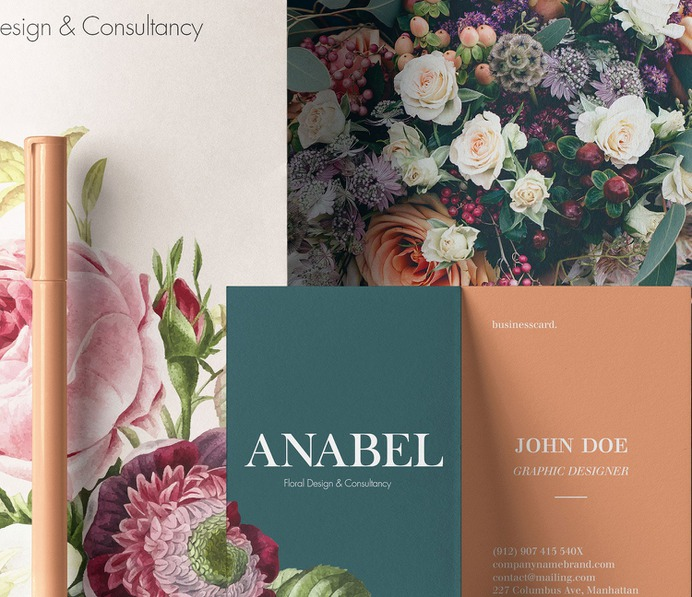 Anabel Branding - Mindsparkle Mag Leandra Rexhepi is the owner of this beautiful project, which consisted in developing the Brand Identity for a Floral Design & Consultancy. #logo #packaging #identity #branding #design #color #photography #graphic #design #gallery #blog #project #mindsparkle #mag #beautiful #portfolio #designer
