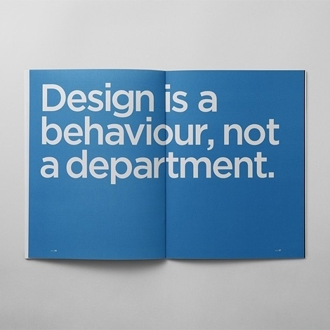 Jay Mug — Design is a behaviour, not a department. #design #quotables