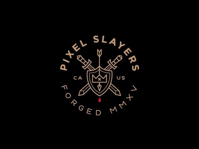 Pixel Slayers #mark #logo #design #clothing
