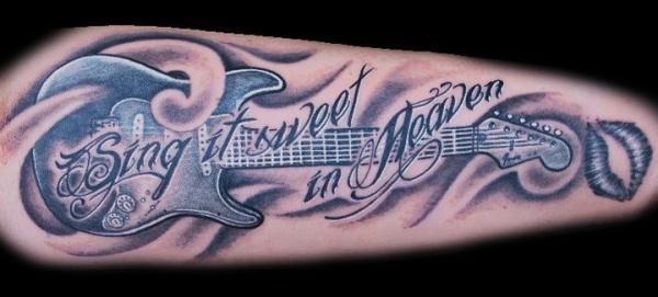 guitar tattoo #music #tattoo