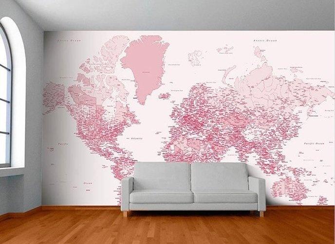 World Map Wall Mural #tech #flow #gadget #gift #ideas #cool