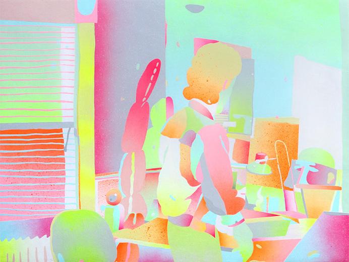 morgan blair, seinfeld, art, painting, color
