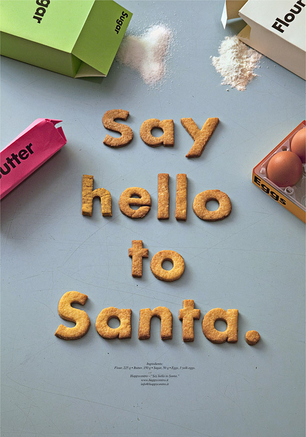 Say Hello To Santa. Poster on Behance #type #poster