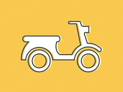 Dribbble - Scoooot by Bill S Kenney #icon #scooter