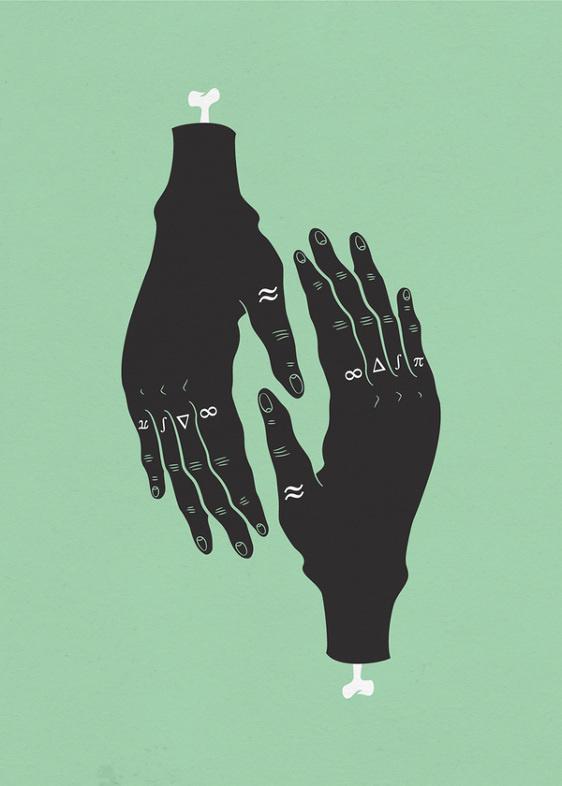 Illustrations Sara Andreasson #skeleton #bone #illustration #hands #drawing