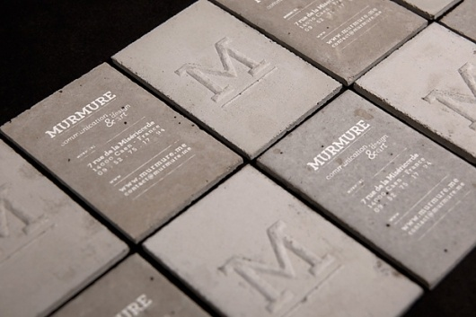 Concrete Business Cards by Murmure | Hypebeast #concrete #business #card #industrial #cards #heavy