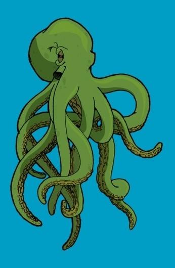 Mr. Octopuss on the Behance Network #illustration #octopus