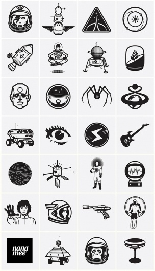 Spike Press #icon #illustration #set