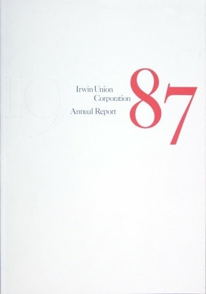 Annual Report 1987 #design