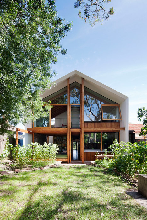 Gabled extension by BKK borrows the form of a doll's house #garden #humble #home