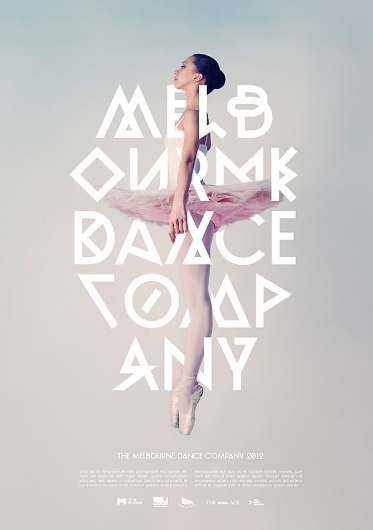 Melbourne Dance Company on the Behance Network #lettering #poster #typography