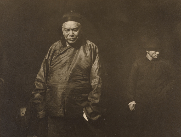 Merchant with Bodyguard. #ArnoldGenthe, #19thcentury, #photography