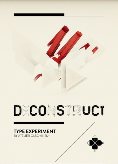 TYPE / DECONSTRUCT on the Behance Network #red #experiment #typography