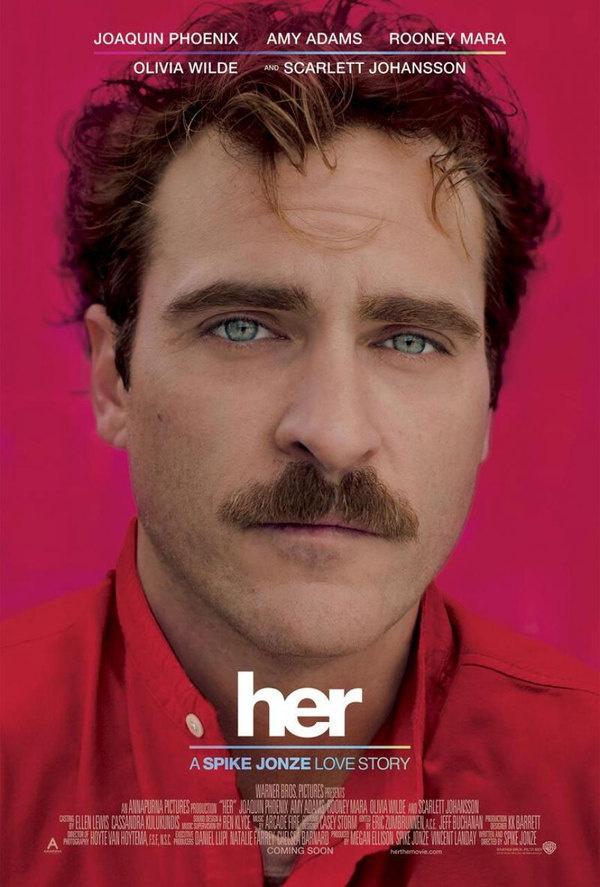 Her movie poster.jpg (865×1280) #jonze #scarlett #johansson #phoenix #joaquin #her #spike