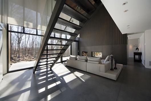Onestep Creative - The Blog of Josh McDonald » Mont-Saint-Hilaire Residence #interior #design #home #modern