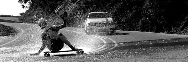 Downhill skateboard video 01 #machine #longboard #ride #skateboarding #road #extreme #man #car #fast
