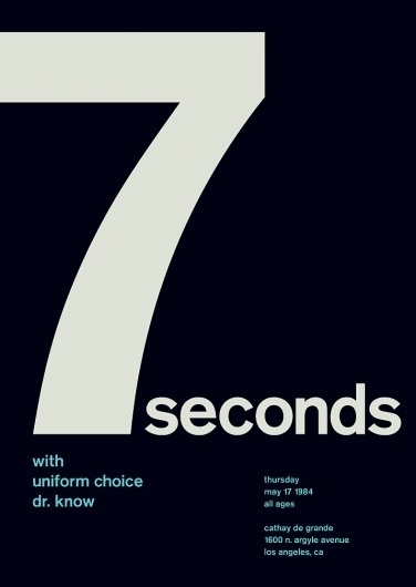 7 seconds at cathay de grande, 1984 - swissted #print #design #graphic #poster