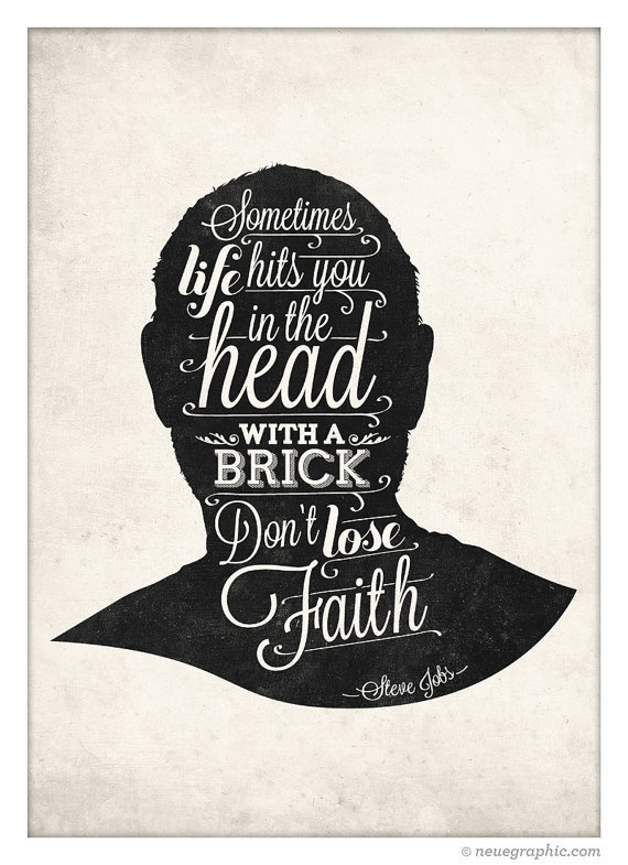 Steve Jobs Hand Writting Style Quote Poster by NeueGraphic #print #design #decor #home #neuegraphic #poster #typography