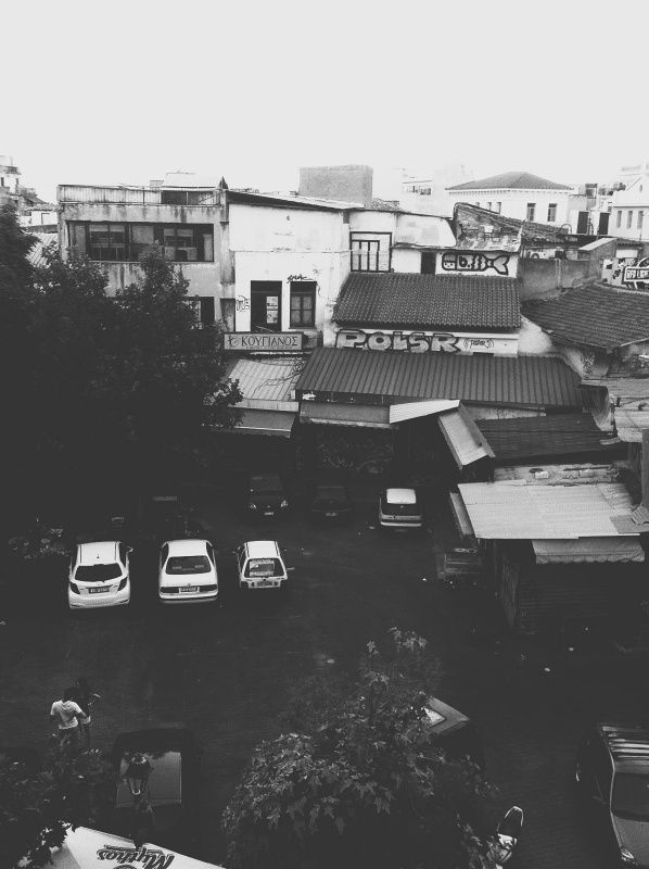 Athens downtown view. #urban #white #city #downtown #black #cars #and #greece #view #athens