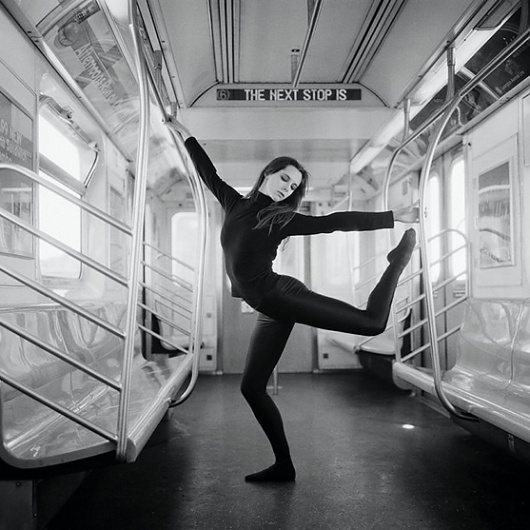 Stillness Of The Mind - Notebook #white #ballet #black #subway #photography #and