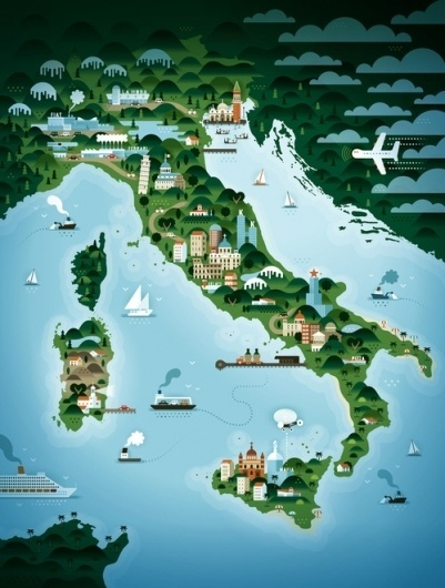 191417_16199562_l.jpg (JPEG Image, 500x660 pixels) #print #map #illustration #society6 #italy