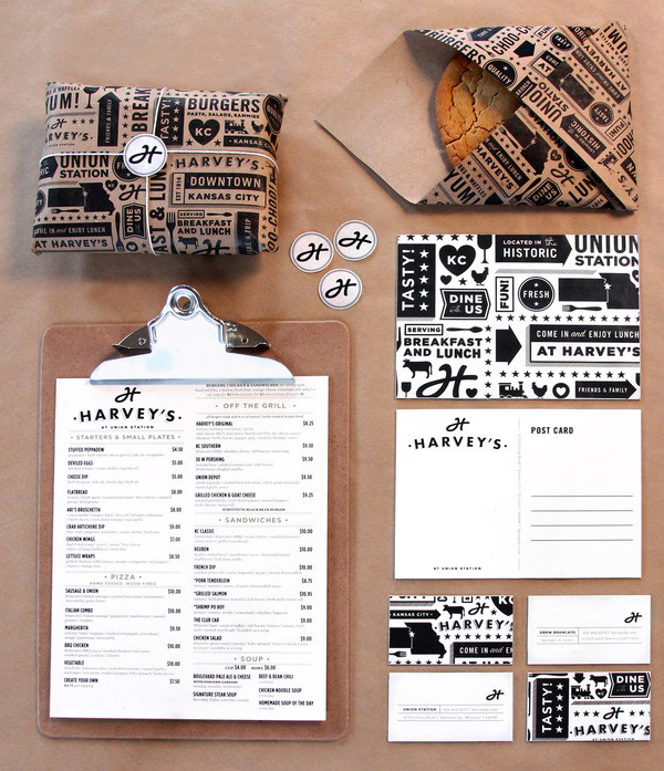 Harvey's | Tad Carpenter Creative #deli #print #stationery