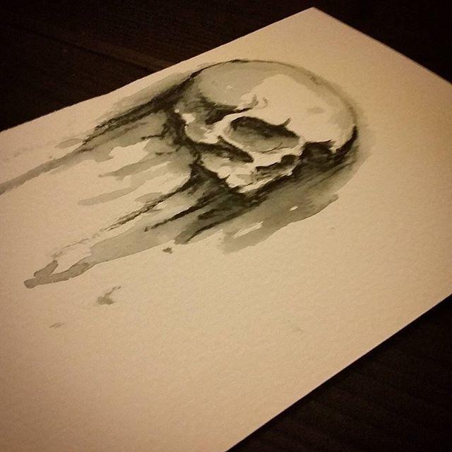 #drawing #sketch #skull