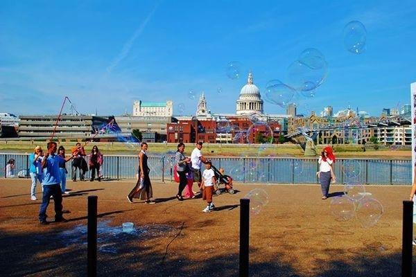 https://www.facebook.com/DavidWalbyPhotography #pauls #bubbles #london #st #kids #thames #children #river